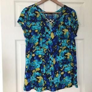 Apt 9 watercolor print blouse Size 1x